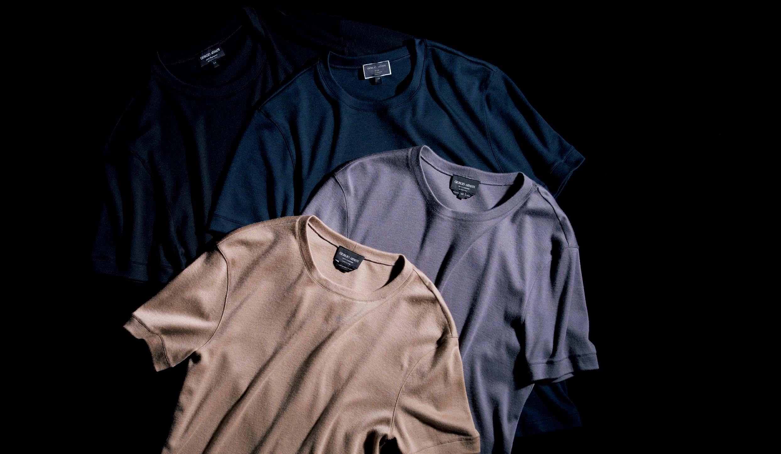 ジョルジオ アルマーニのカシミヤTシャツ