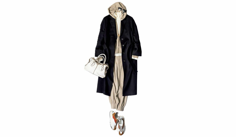 ブラックコートの着こなし