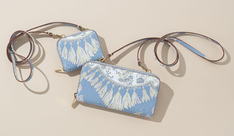 エミリオ・プッチの新作財布「ルギアダ プリントウォレット」と「ルギアダ プリントコインパース」