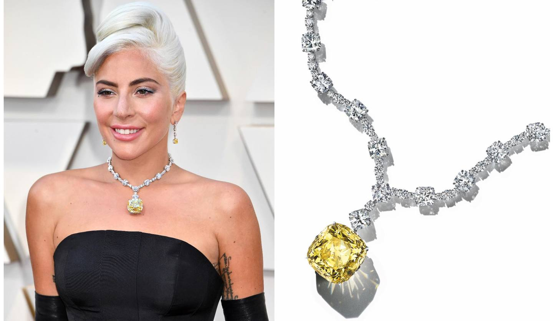 Tiffany&Co.(ティファニー)の「ティファニー ダイヤモンド」を第91回アカデミー賞授賞式で着用したレディー・ガガのスナップ写真