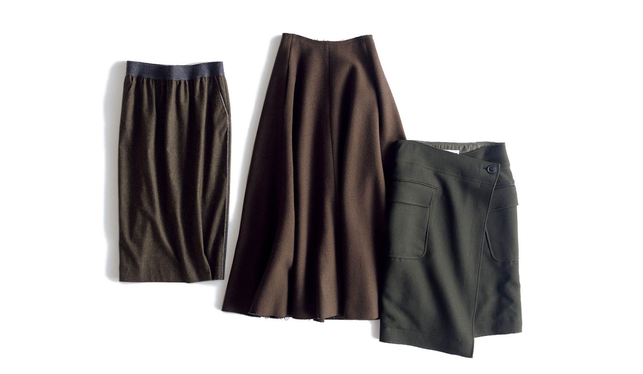 ファビアナフィリッピ、エイトン、アンスクリアのカーキスカート