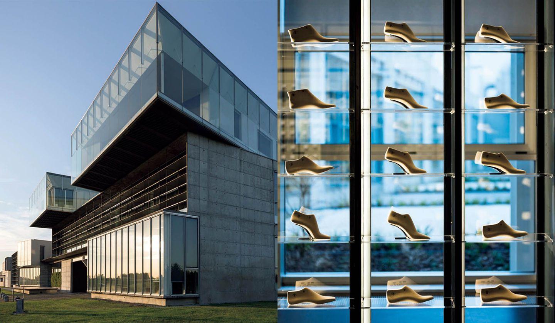 セルジオ ロッシのファクトリーと併設されたアーカイブルーム