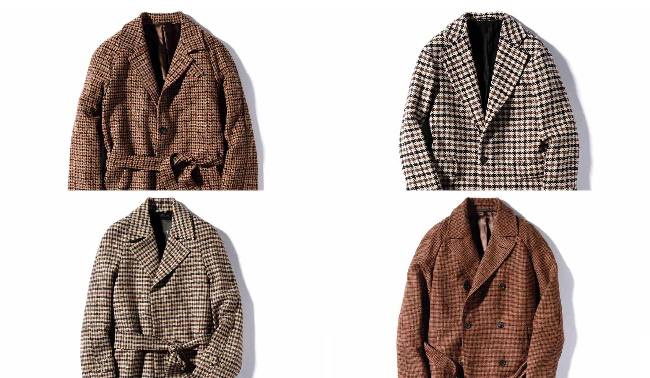 カルーゾ、マッキントッシュ ロンドン、タリアトーレ、スティレ ラティーノのガンクラブチェックのコート