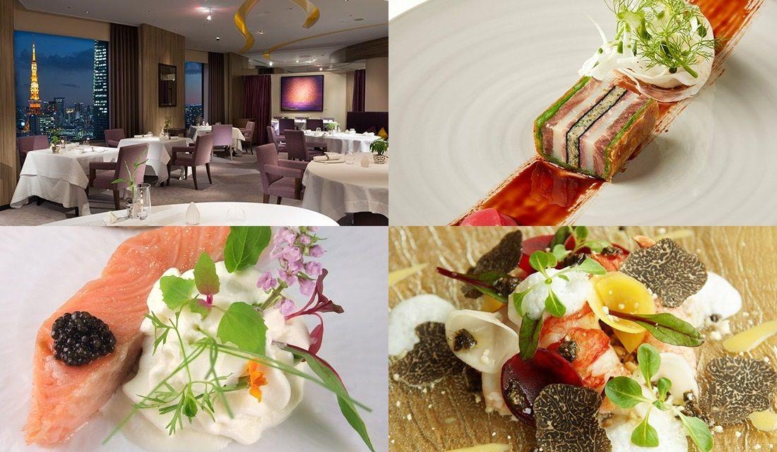 六本木のフレンチレストランのお料理と内観の写真4枚