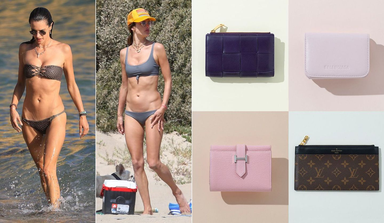 アレッサンドラ・アンブロジオのビーチスタイル、「エルメス」「ルイ・ヴィトン」「ボッテガ・ヴェネタ」「バレンシアガ」の新作財布
