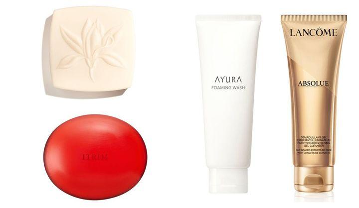 洗顔石鹸や洗顔料など、潤いを守る洗顔4品