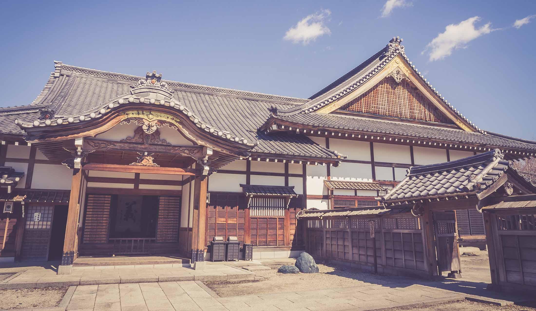日本の由緒ある家柄の自宅外観