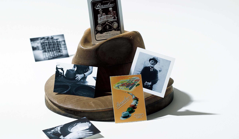 パナマ帽の生産に使われていた年季の入った、ボルサリーノの木型
