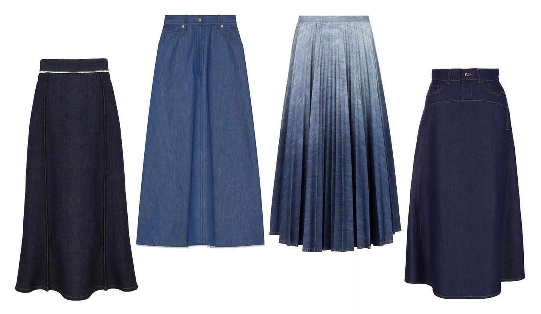 グッチ、ディオール、クロエ、エンポリオ アルマーニのデニムスカート