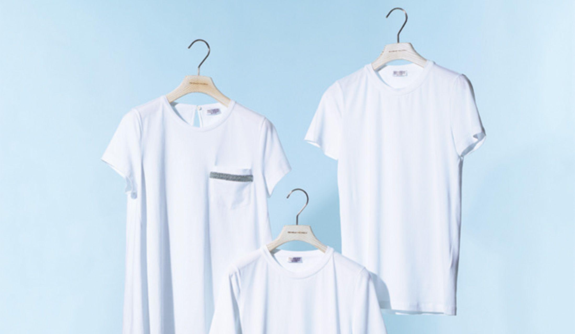 ブルネロクチネリの白Tシャツ3枚