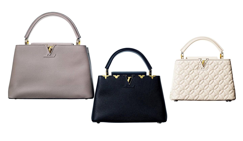 ルイ・ヴィトンのバッグ「カプシーヌ」3つ