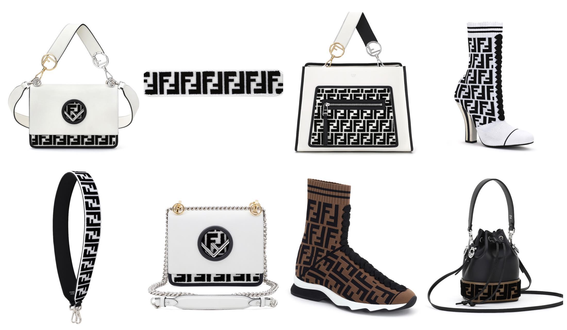 FENDI(フェンディ)のアイコン「FF」ロゴがあしらわれたNET-A-PORTER(ネッタポルテ)限定の商品の写真