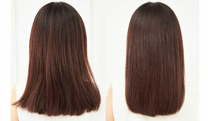 女性の髪、Before→After