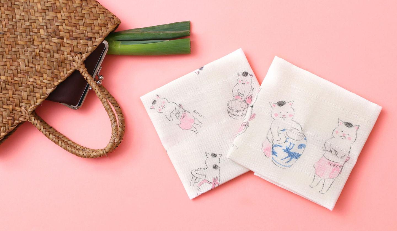 猫村商店×中川政七商店の『きょうの猫村さん』コラボレーションかや織ふきん