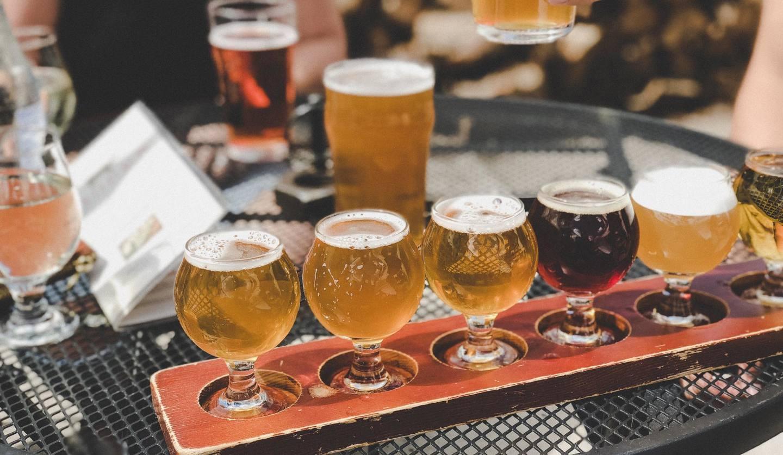 ビールが並んでいるところ