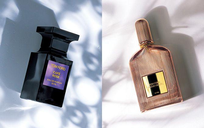 トムフォードビューティーの香水が2つ並んでいるところ