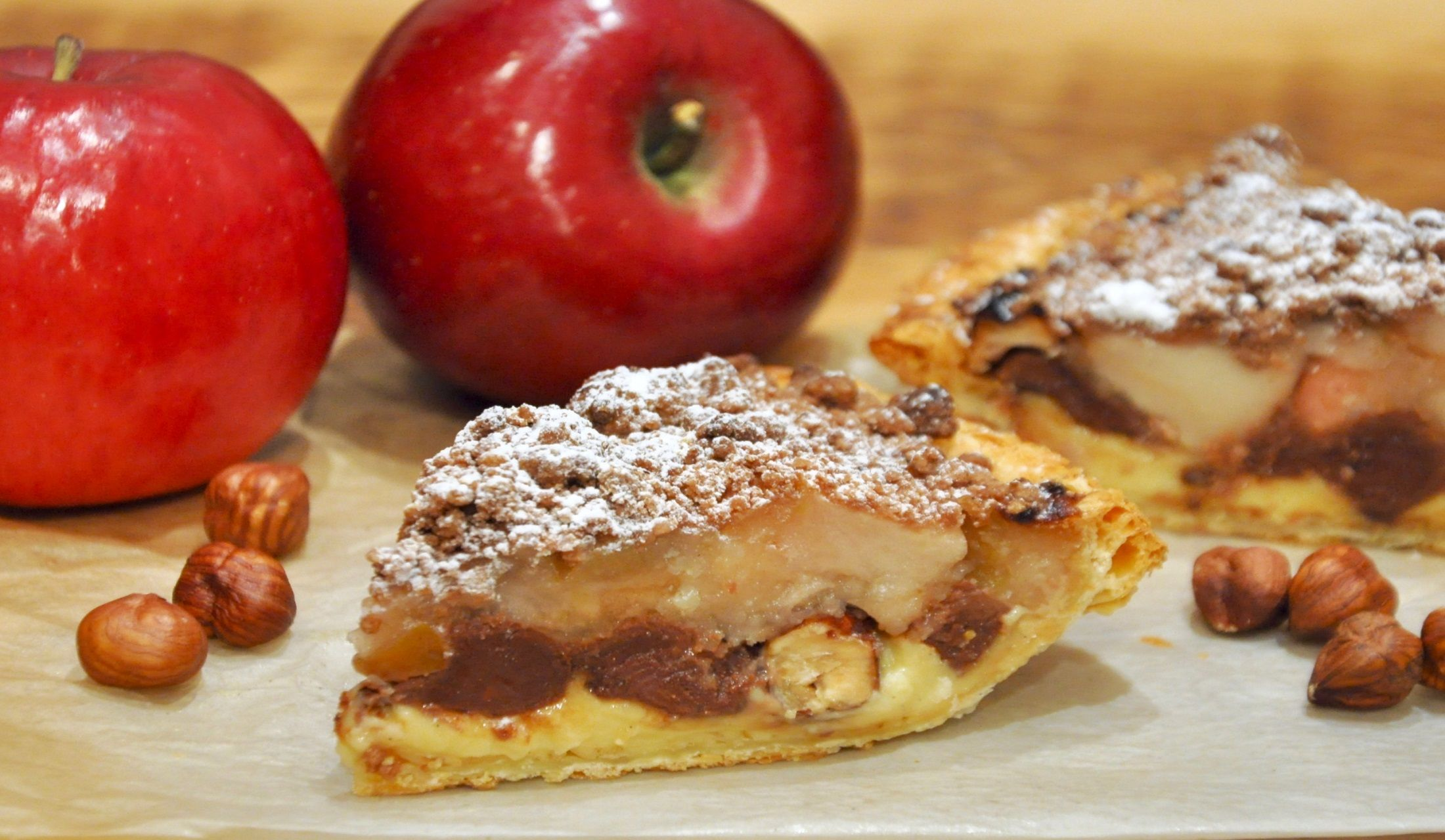 東急プラザ銀座から発売されるおすすめのバレンタインギフトのチョコレート風味のアップルパイ