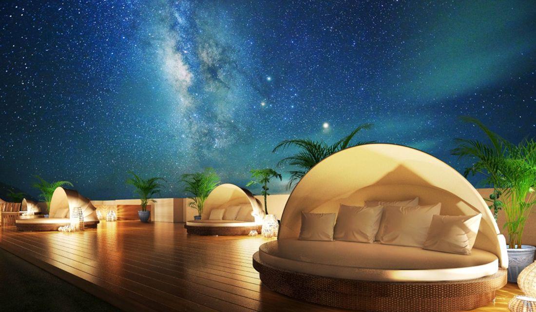 THE SCENE amami spa & resortの屋上テラス