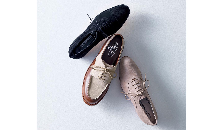 スエード靴3足