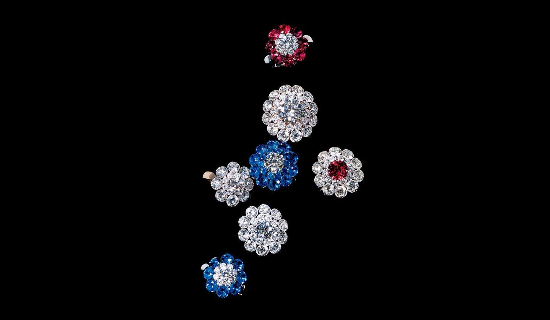 ショパールの指輪「マジカル セッティング コレクション」7つ