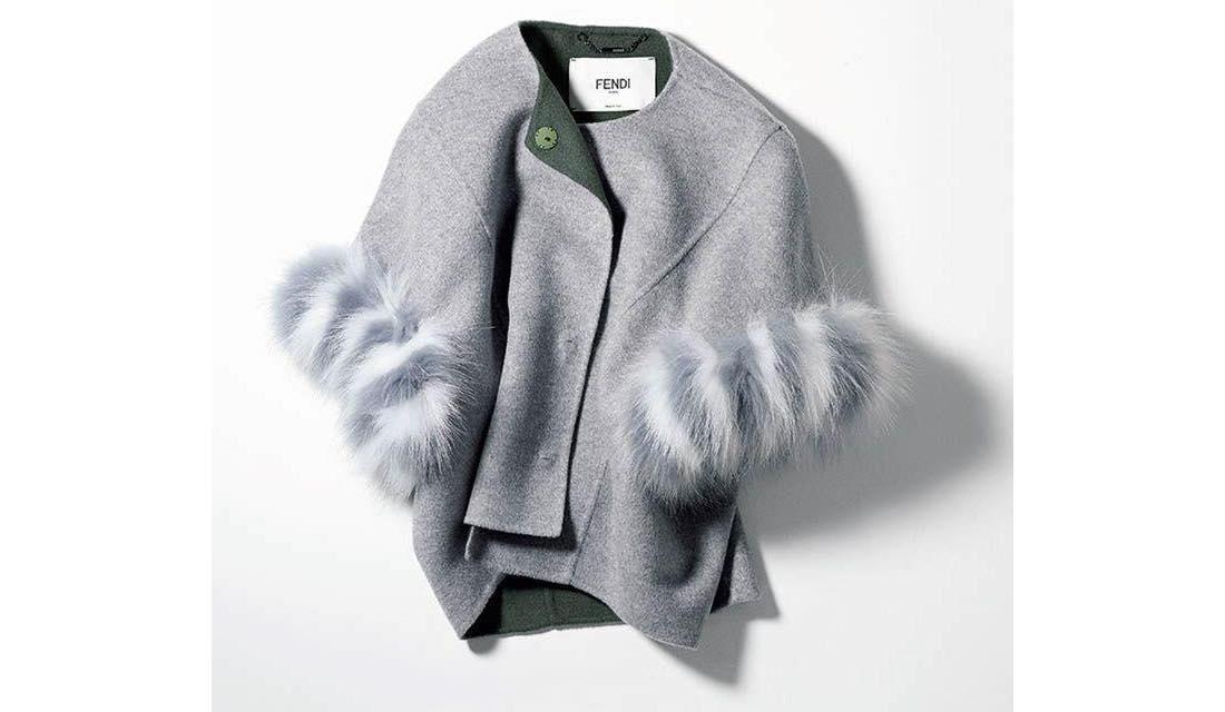 カシミヤ素材でコクーンシルエットが美しいフェンディのジャケット