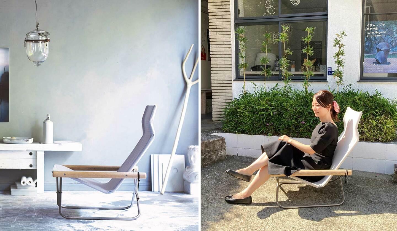 デザインショップの椅子「ニーチェアエックス シキリ」の使用例