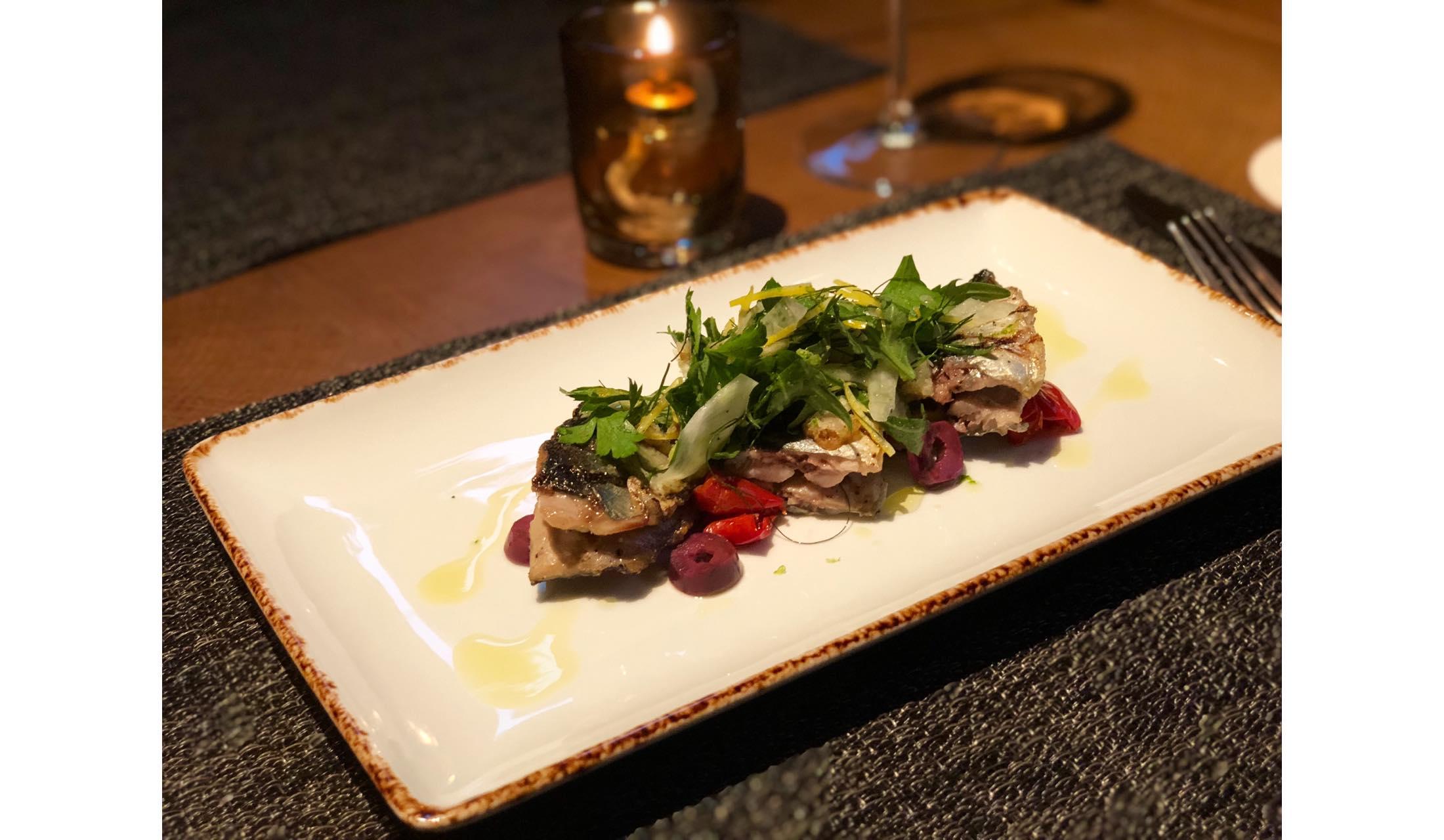 青山のレストランCRISTAで9月25日より登場する新メニュー「秋刀魚のグリル」