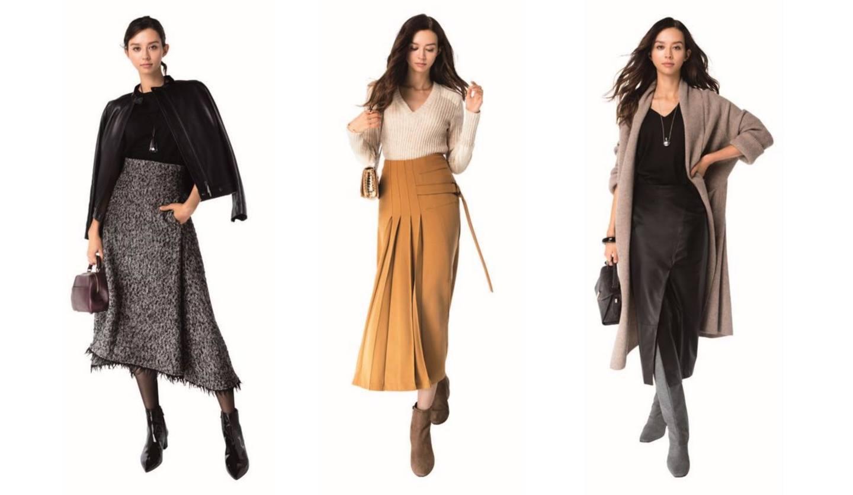 ロング、プリーツ、40代におすすめの上品なスカートコーデ集