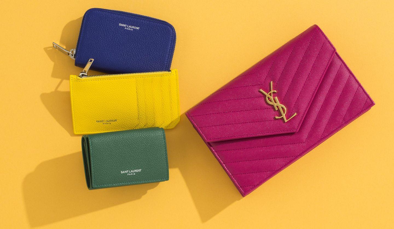 「サンローラン」のウォレットチェーンバッグ、三つ折り財布、カードスロット付きコインケース、コインケースの物写真