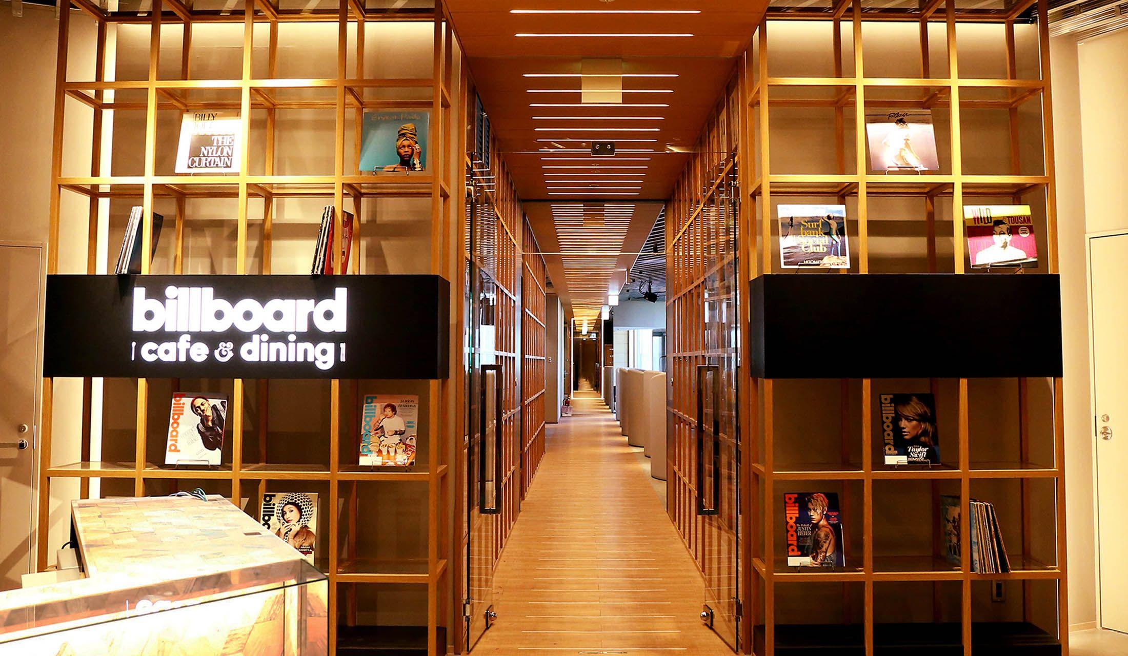 東京ミッドタウン日比谷にオープンした「ビルボードカフェ&ダイニング」のエントランス