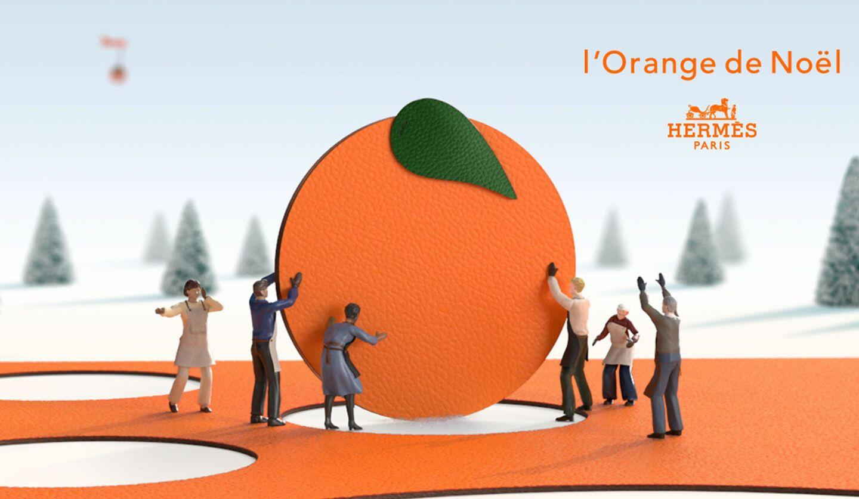 2020年11月27日(金)よりスペシャルサイトにて公開スタートするエルメスのオレンジクリスマス