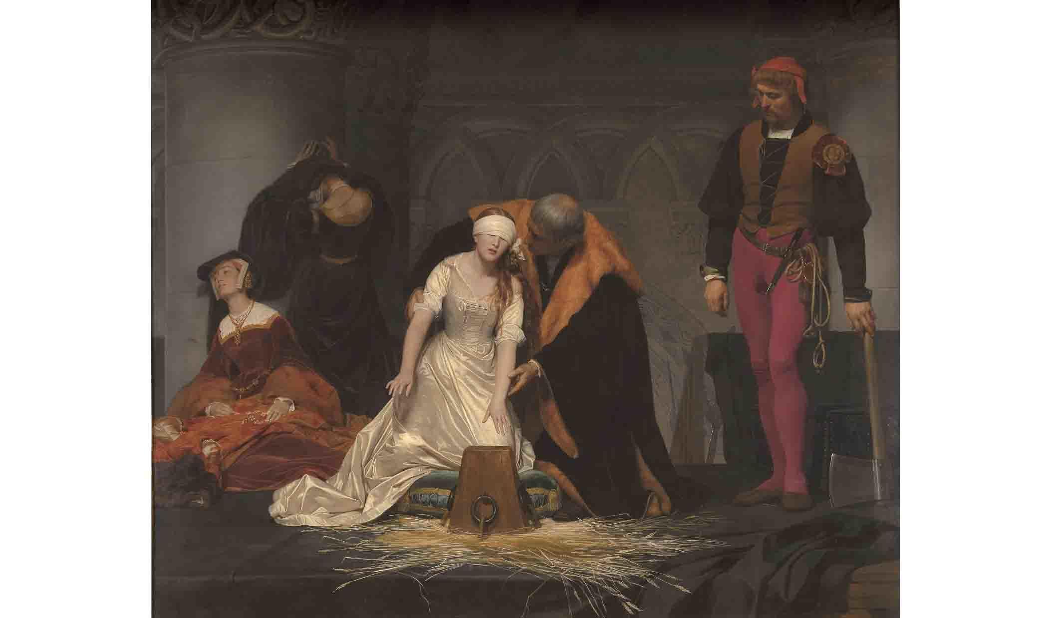 ポール・ドラローシュの作品『レディ・ジェーン・グレイの処刑』