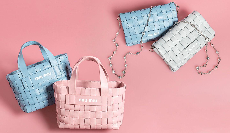 ミュウミュウの2020年クルーズコレクションコレクションのショルダーバッグとハンドバッグ