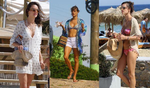 水着のおしゃれ参考人はアレッサンドラ・アンブロジオ!大人のビーチスタイルが話題