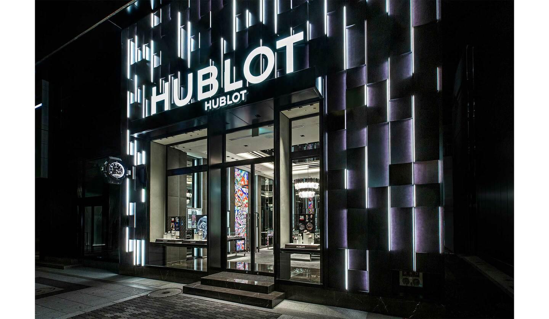 移転リニューアルオープンしたウブロブティック大阪の店舗ファサード