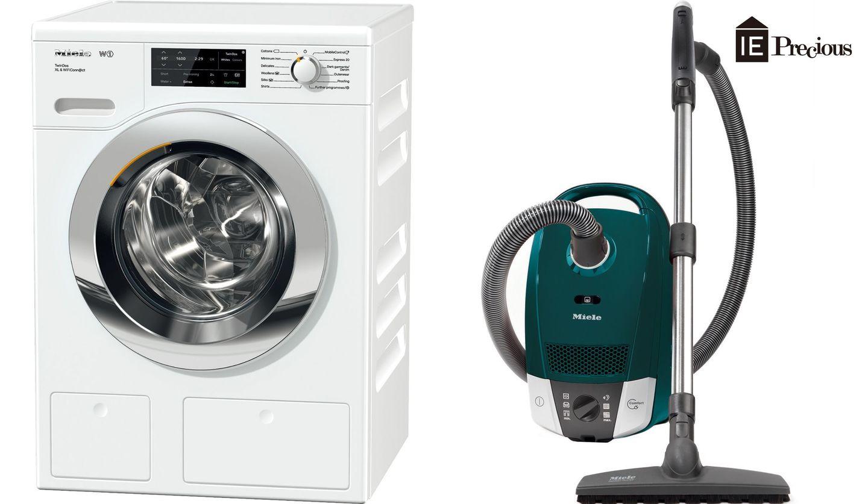 ミーレのW1洗濯機 WCI660 WPSと掃除機 COMPACT C2 3 P CLEANMEISTERの画像