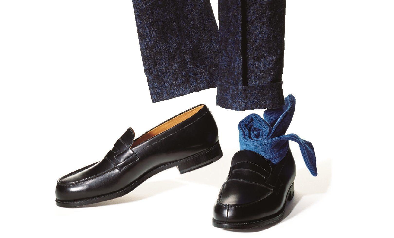 靴、靴下、パンツの組み合わせ