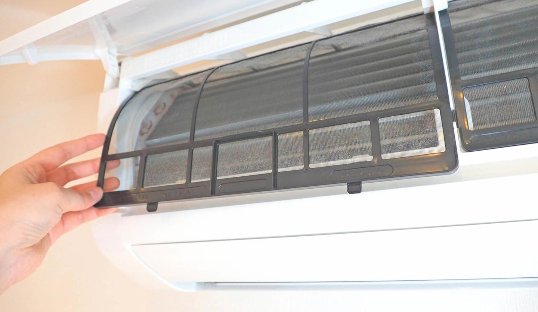 エアコンの内蔵フィルター