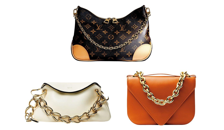 ルイ・ヴィトンのバッグ『ブーローニュ NM』、クロエのバッグ『ウォアナ』、ボッテガ・ヴェネタのバッグ『マウント』