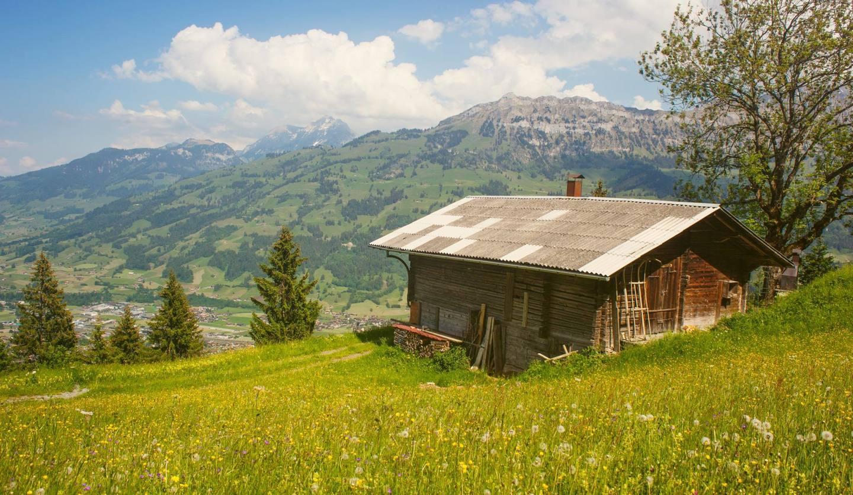 山小屋風の一軒家