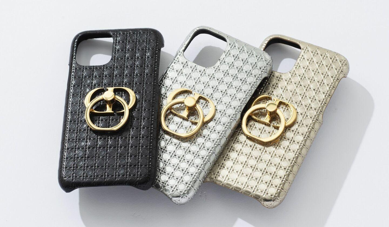 ディオールのフィンガーリング付きiPhoneケース