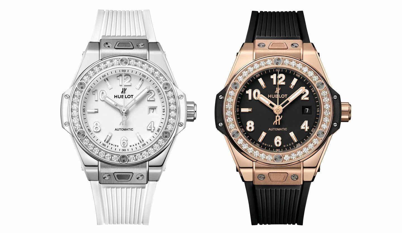 ウブロの新作ウォッチ「ビッグ・バン ワンクリック スチール ホワイト ダイヤモンド」と「ビッグ・バン ワンクリック キングゴールド ダイヤモンド」