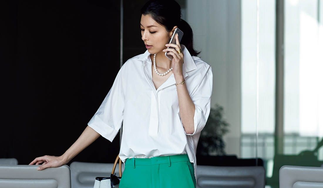 白シャツ&白Tシャツレディース着こなし集