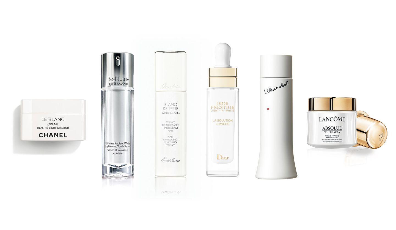 シャネル、エスティ ローダー、ゲラン、ディオール、ポーラ、ランコムの美白化粧品