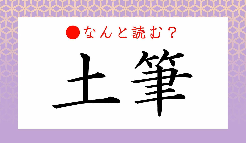 日本語クイズ 出題画像 難読漢字 「土筆」なんと読む?