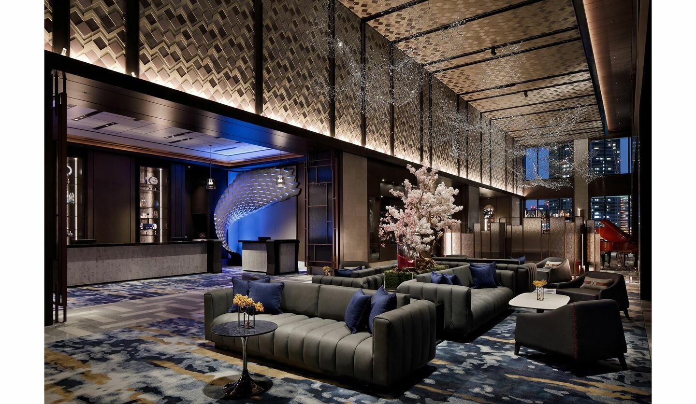 2020年4月にオープンした新ホテル「メズム 東京」のロビー