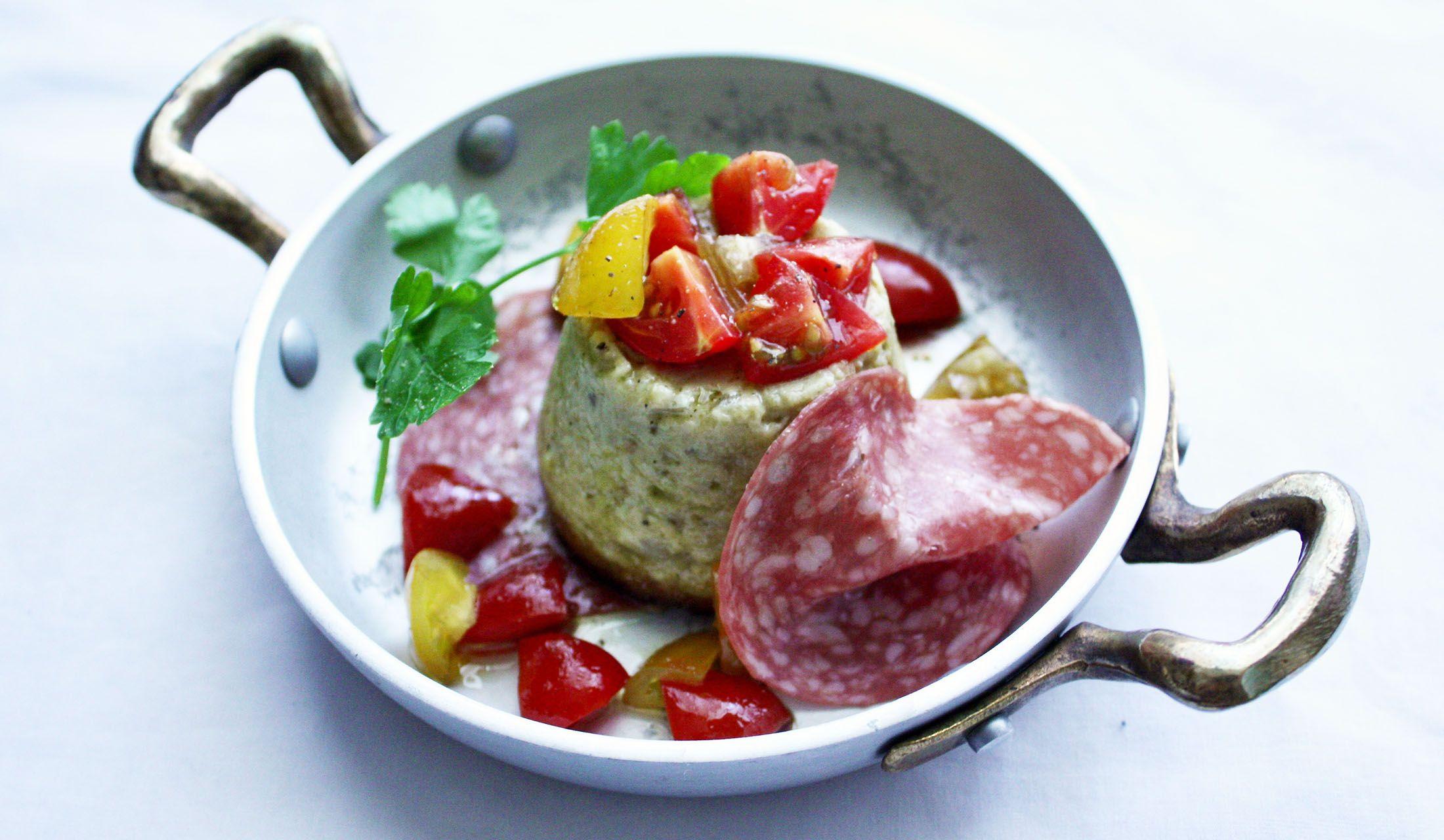 卵料理「茄子のスフォルマート」のレシピ