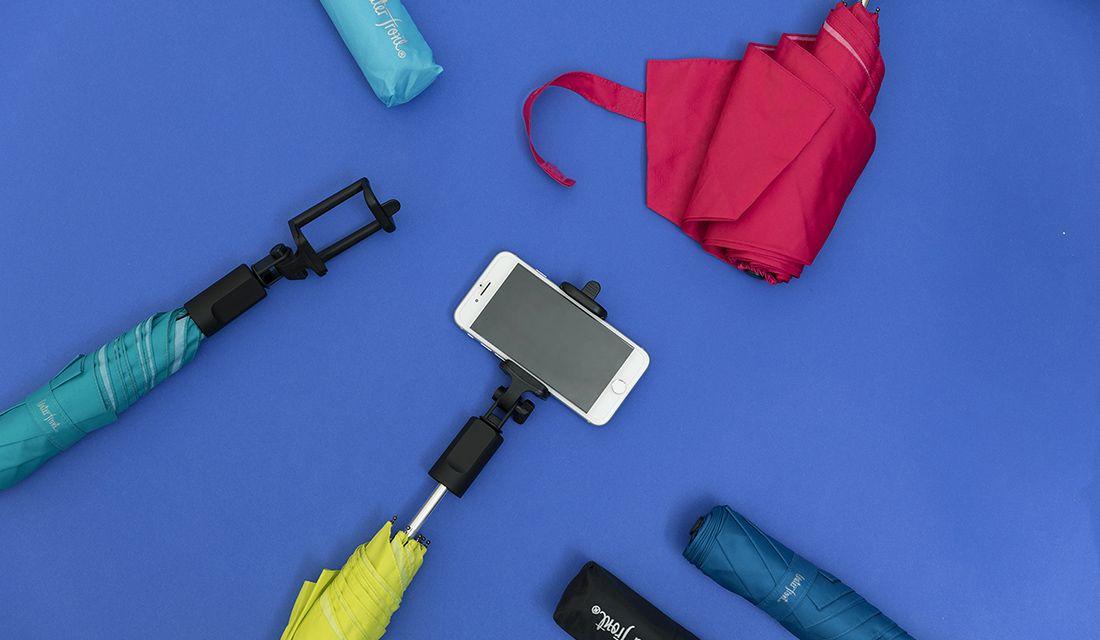 傘にスマホを取り付けて写真が撮影できる「Waterfront(ウォーターフロント)」の「撮れる傘」