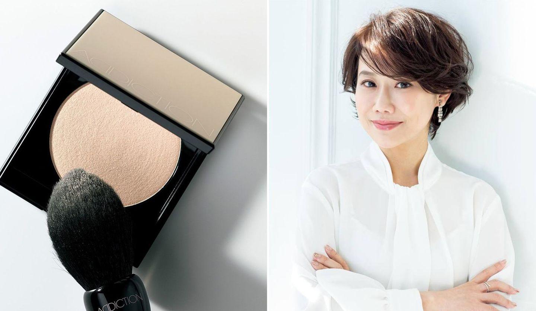 カラーレスパウダーと保奈美さんショートのカットモデル