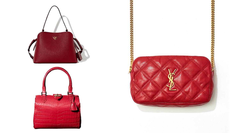 3つの赤いバッグ